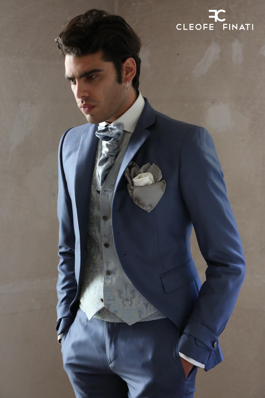 Stefano Sala indossa un abito da sposo della couture collection di cleofe  finati 2018 34c7039e9a8